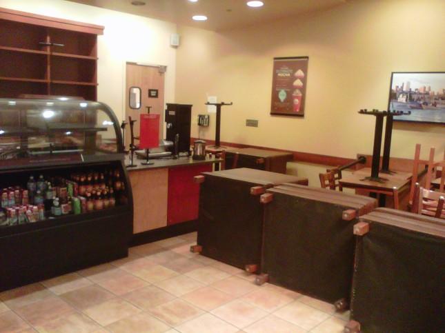 Closed café
