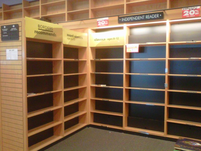Empty IR shelves