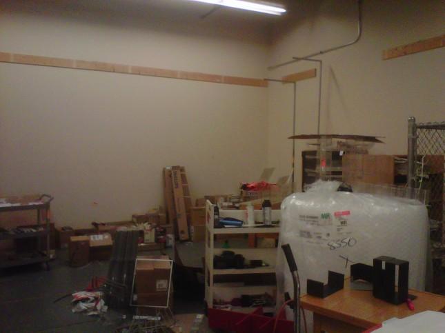 Sort room shelving