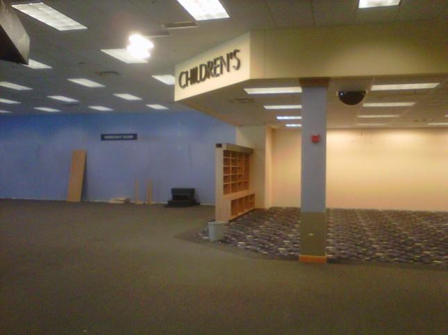 Empty book floor