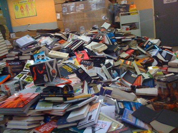 Water damaged books