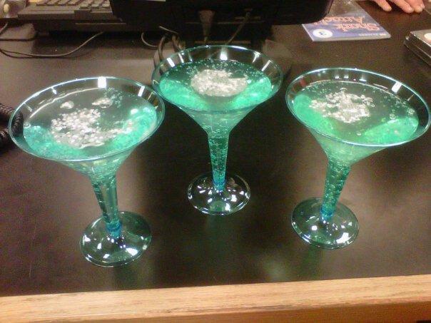 Glitterball martinis
