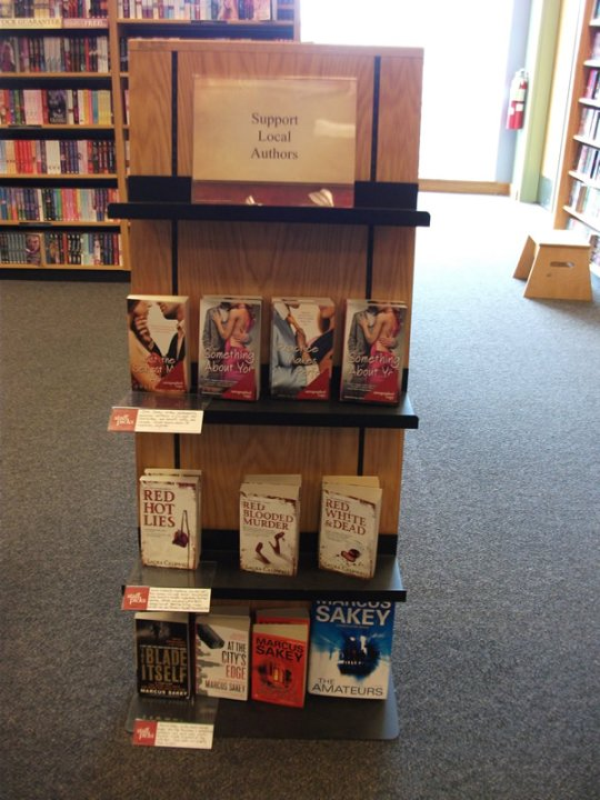 Local author display, March '10