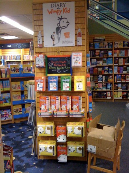 Diary of a Wimpy Kid display