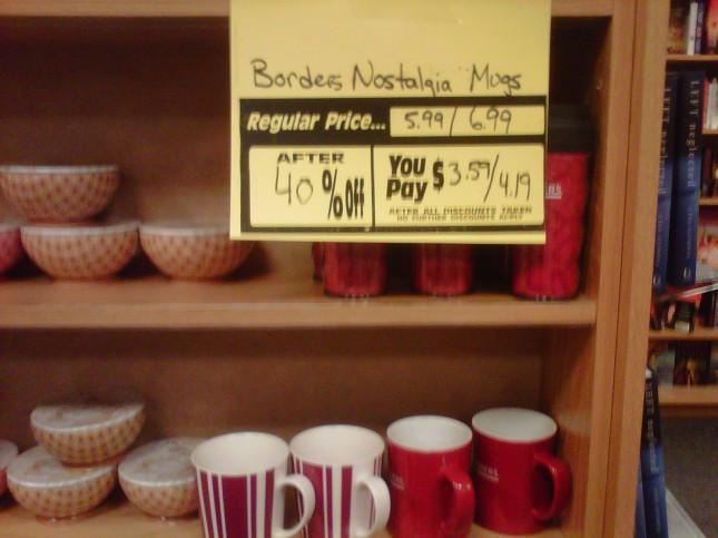 Borders nostalgia mug