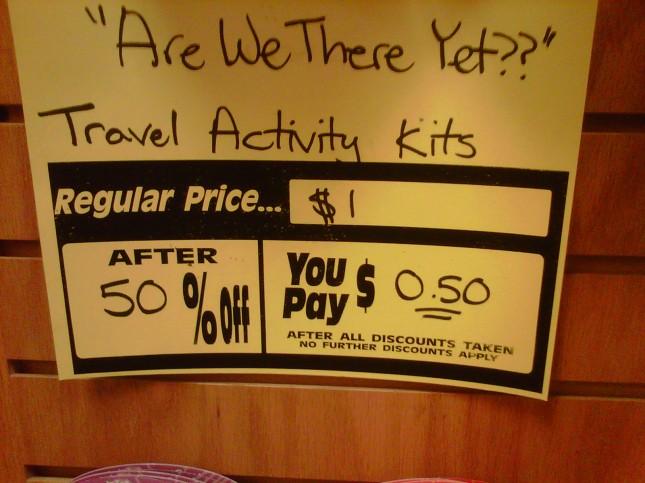 Kids' bargain endcap u-pay