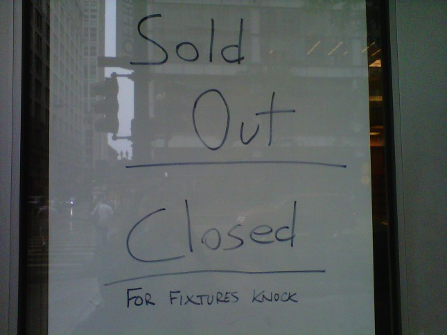 Sold out - closed