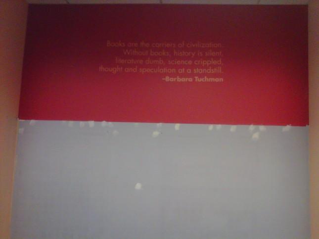 Wall quote closeup